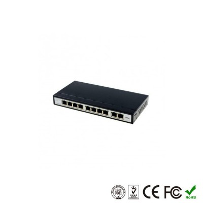 POE Коммутатор 8 портов POE + 2 порта Uplink
