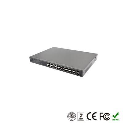 POE Коммутатор 24 портов POE + 2 порта Uplink + 2 Оптических порта SFT