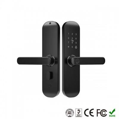Дверной электромеханический смарт-замок с открытием отпечатком пальца, картой, из приложения через Wi-Fi
