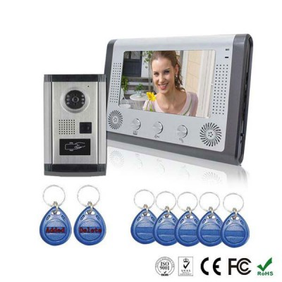 """Видеодомофон с RFID метками  7"""" ZWH-VD701-ID"""