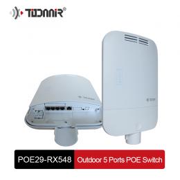 Уличный PoE коммутатор 4*10/100M POE + 1*10/100M uplink IEEE 802.3at/af POE29-RX548
