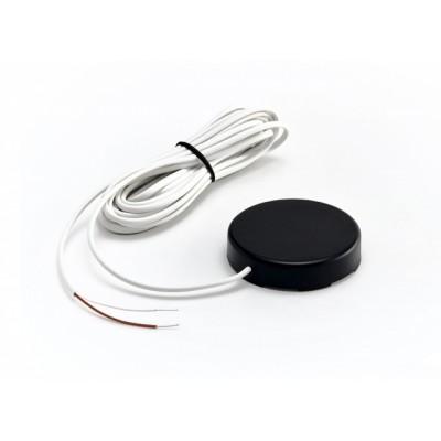 Датчик протечки воды с круглым корпусом WSР2 (кабель 3 метра) цвет черный Гидролок