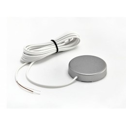 Датчик протечки воды с круглым корпусом WSР2 (кабель 3 метра) silver