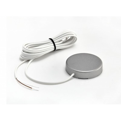 Датчик протечки воды с круглым корпусом WSР2 (кабель 3 метра) цвет серебро Гидролок