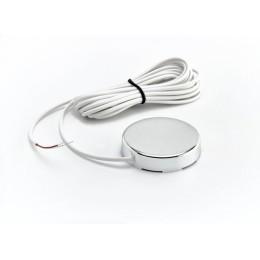 Датчик протечки воды Gidrolock с круглым корпусом WSР2 (кабель 3 метра) цвет steel (сталь)