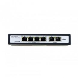 Коммутатор POE, всего портов: 6, портов PoE 802.3 af: 4, портов RJ45 10/100: 2